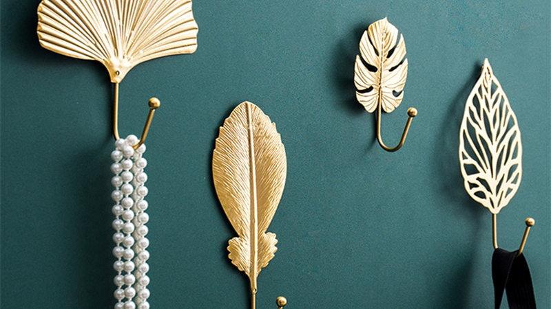 Leaf Inspired Wall Hooks