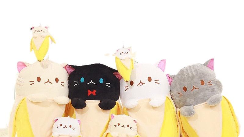 Cat in Banana Plush Stuffed Animals