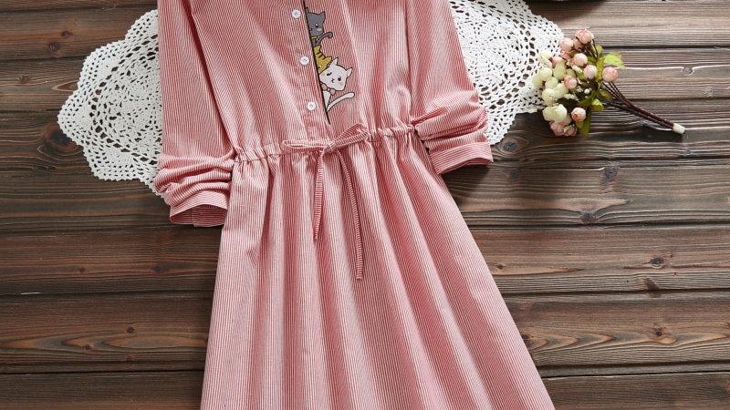 Women's Cat Print Dress