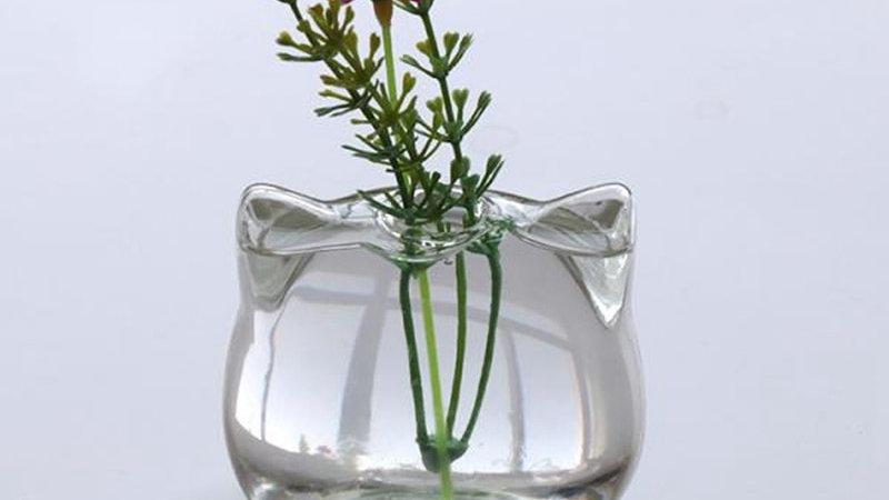 Cat Shaped Glass Vase
