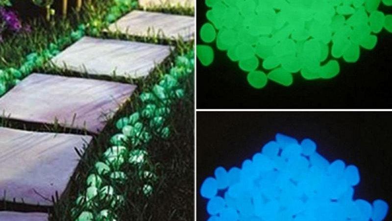 Glow in the Dark Garden Pebbles