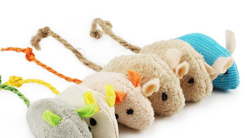 6pcs Mice Shaped Cat Toys