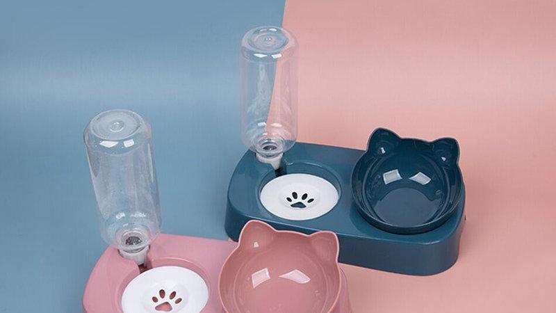 Pet Cat Elevated Bowls