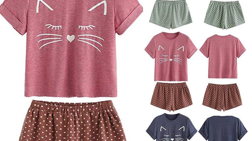 Women's  Cat Sleepwear Sets Pyjamas