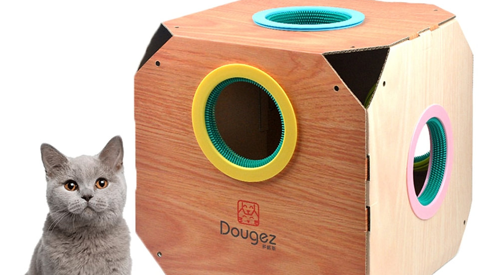 Cat Scratching Box House