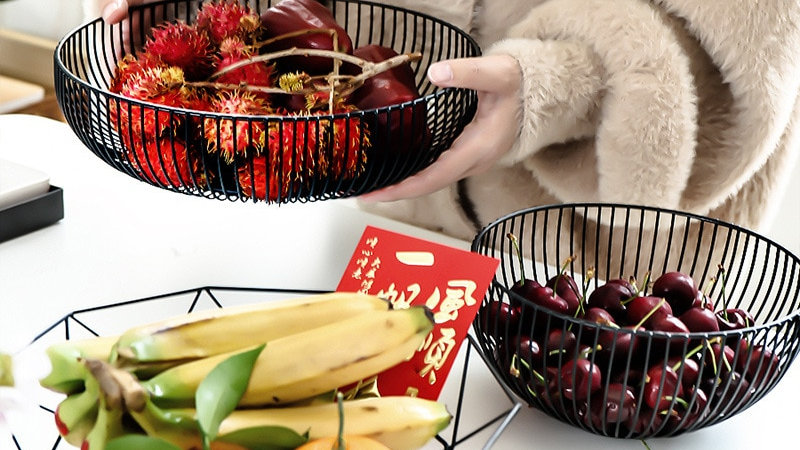 Metal Wire Fruit Bowls