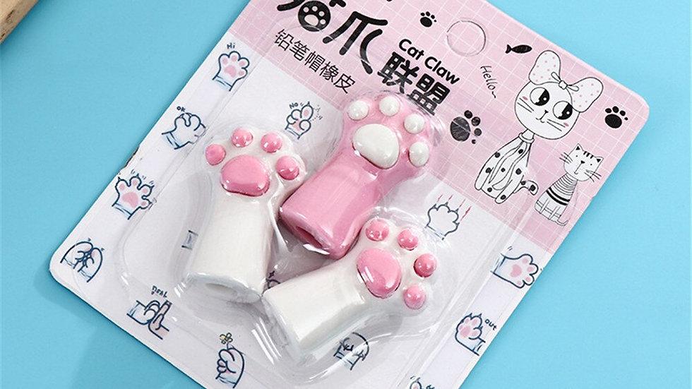 3pcs Cat Paw Erasers