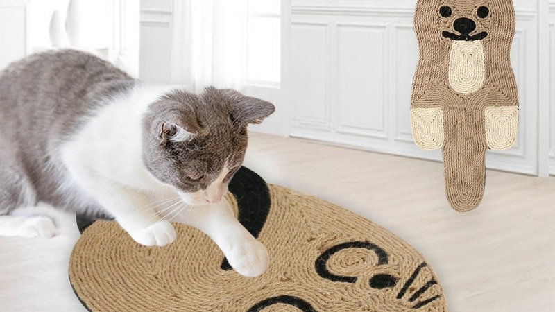 Mouse Shaped Sisal Cat Scratching Pad