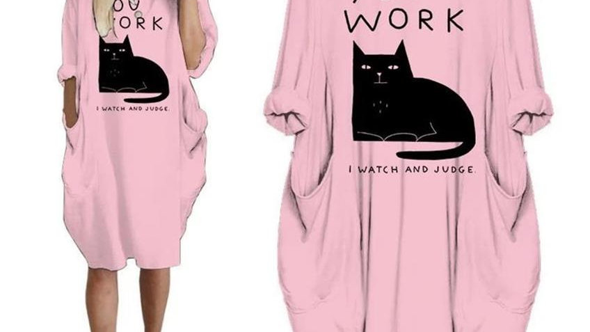 Cotton Cat Pocket Dress