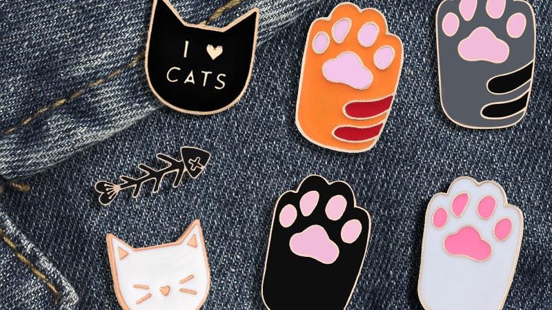 Cute Cartoon Cat Pin Badges