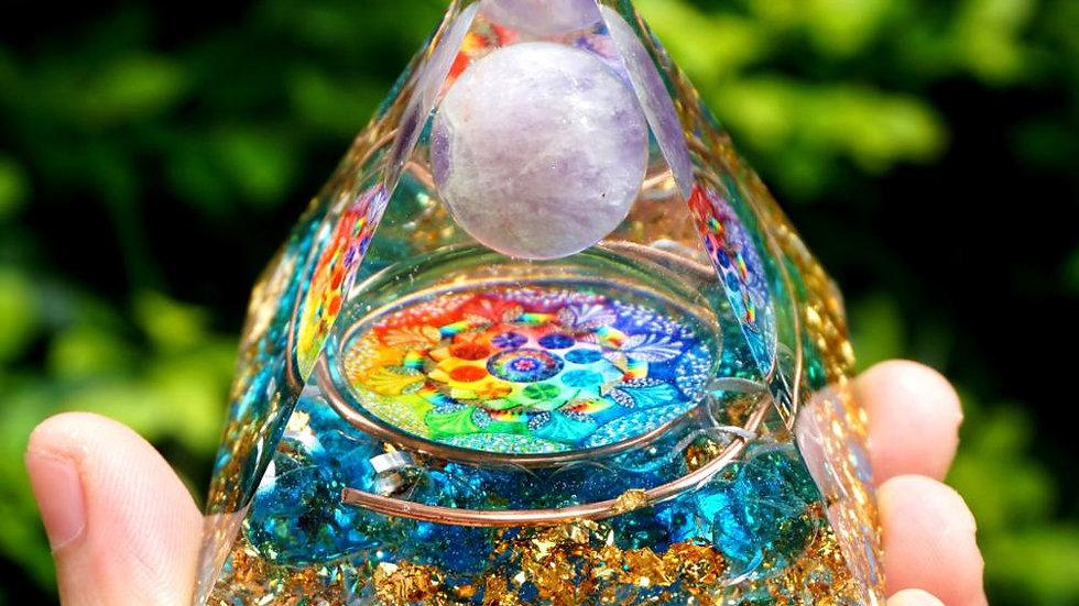Handmade Amethyst Crystal Sphere Orgone