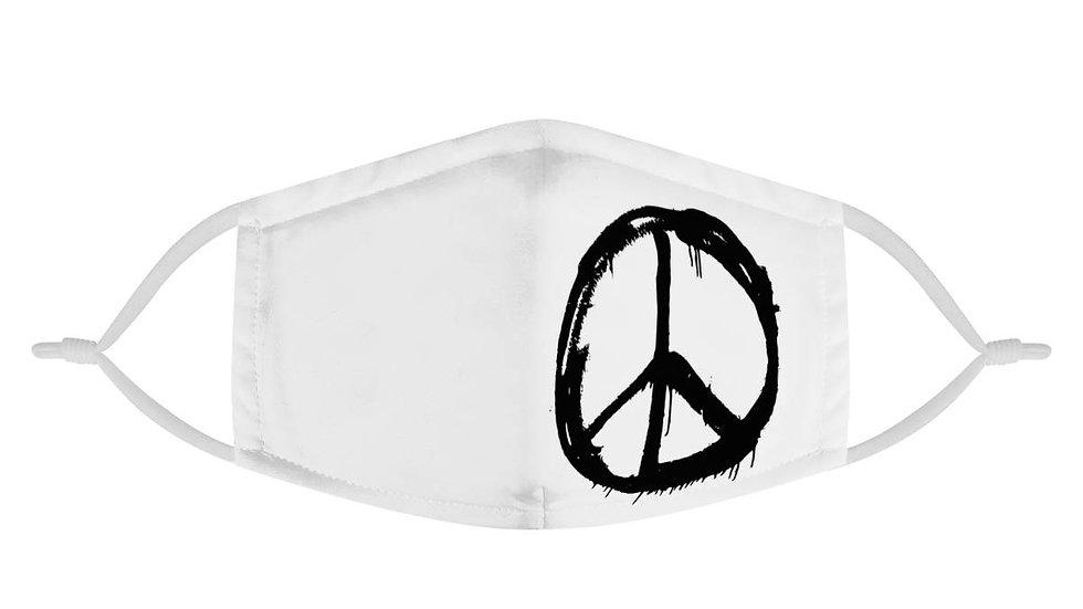 Graffiti Peace Sign Face Mask
