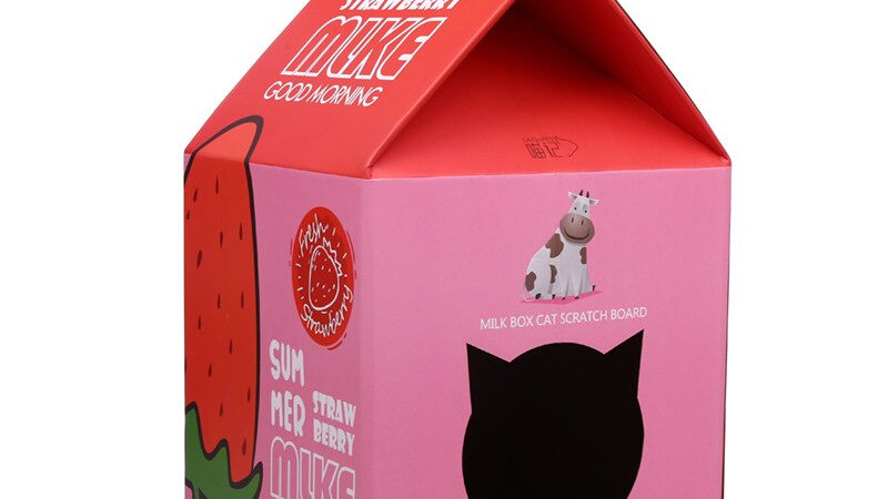 Milk Cat House Cat Scratcher Nest Cardboard Bed