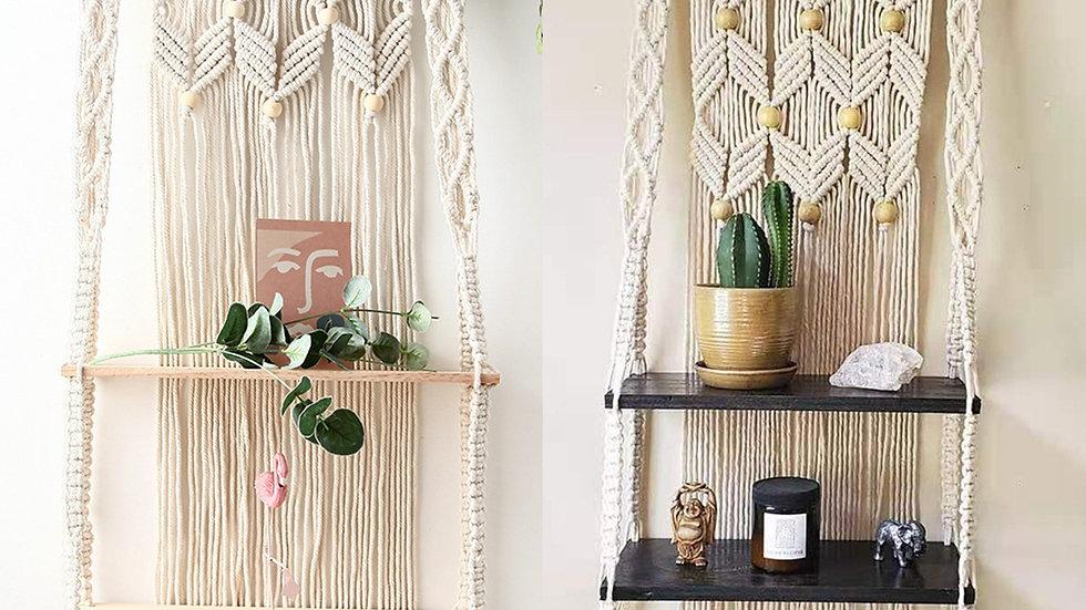 Macramé Tapestries with Shelves
