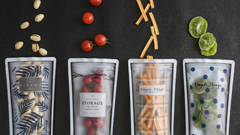 4pcs Reusable Food Storage Bags