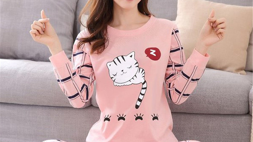 Women's Kitty Pyjama Sets