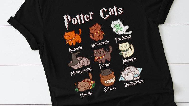 Cute Potter Cats T-shirt