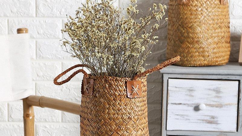Seagrass Woven Storage Baskets