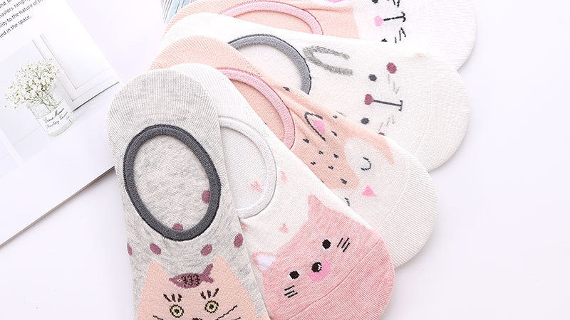 5 Pairs Cute Animal Cotton Socks