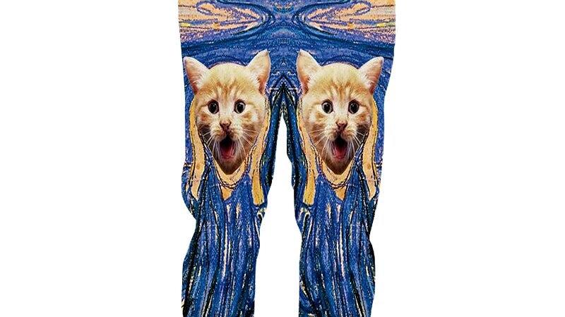 Men's Casual Cat Jogger Pants