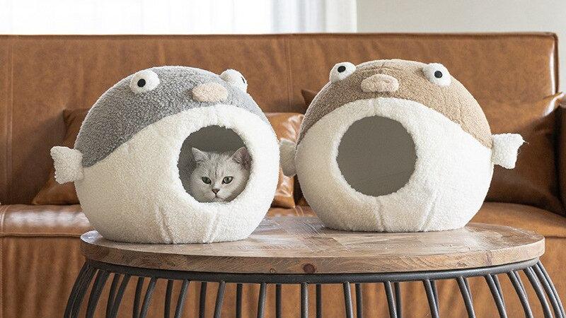 Cute Enclosed Cat Bed