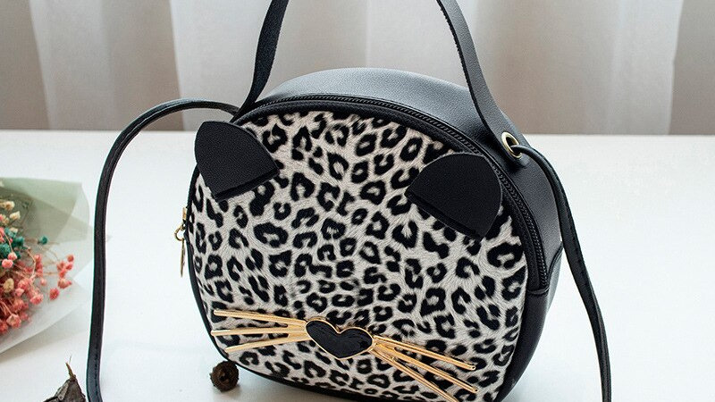 Crossbody Cat and Leopard Handbags
