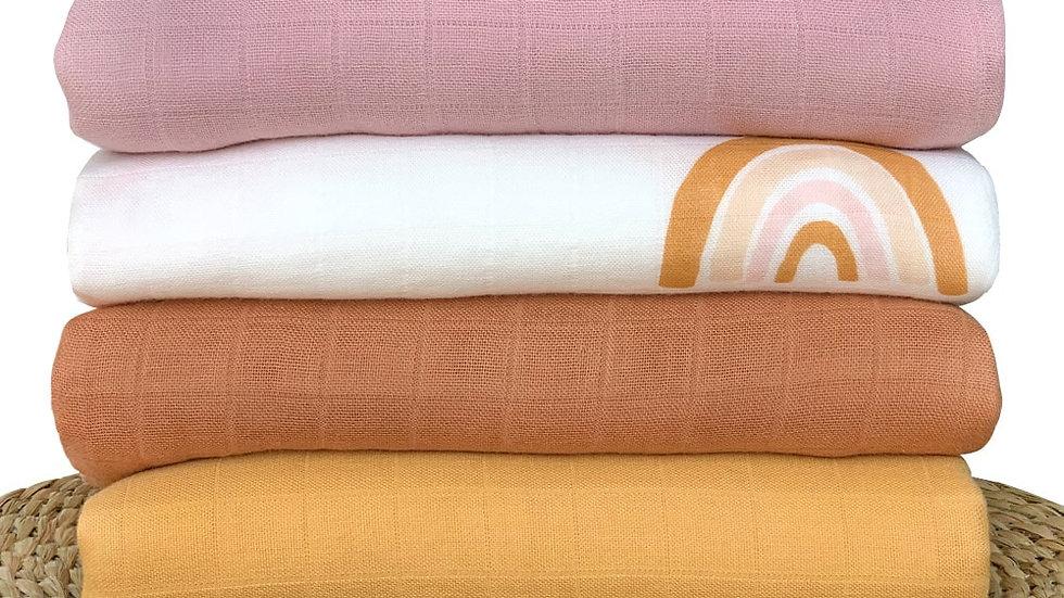120x120cm Bamboo Baby Blanket Muslins