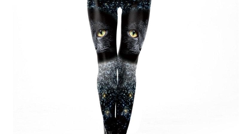 Mysterious Black Cat Leggings