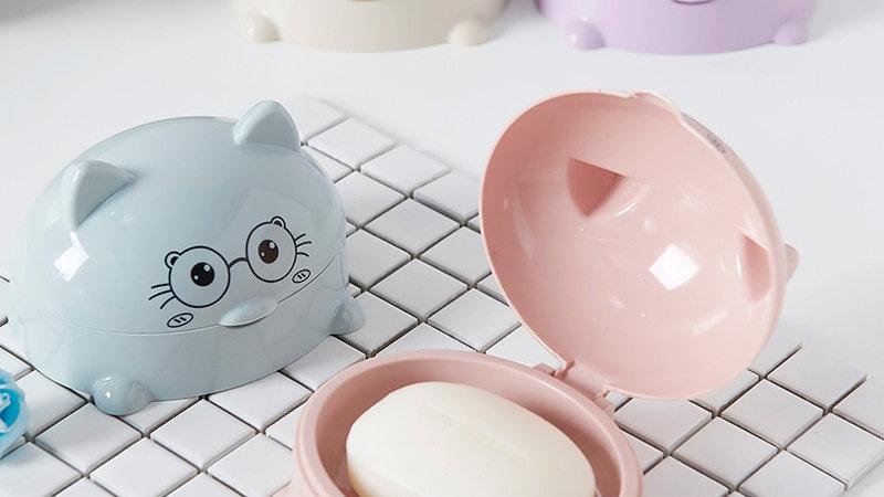 Cartoon Cat Soap Dish
