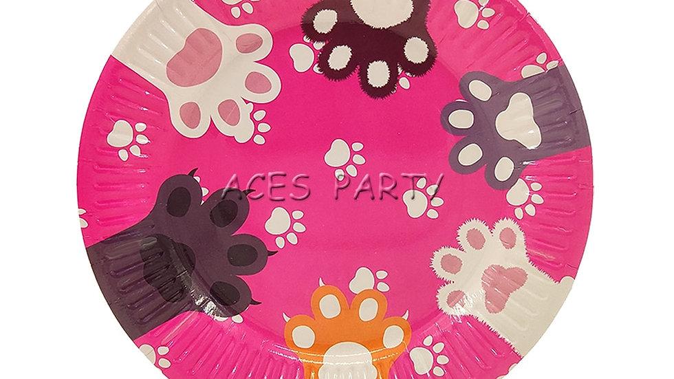 8PCS 7inch Cat Disposable Paper Plates