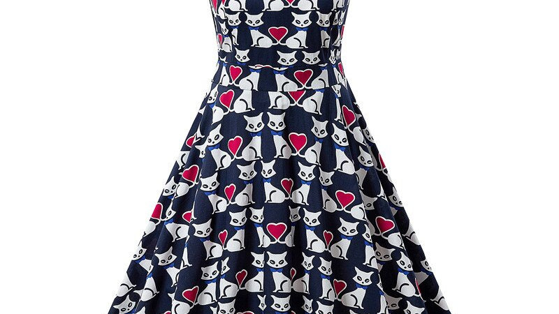 Kitty Printed Women's Summer Dress