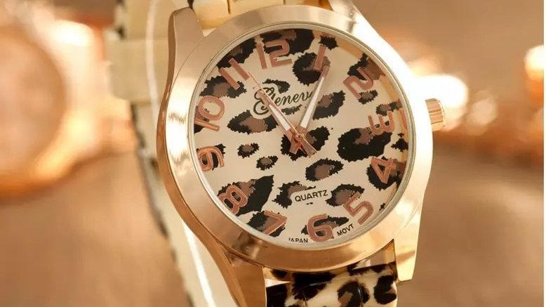 Geneva Watch Leopard Print