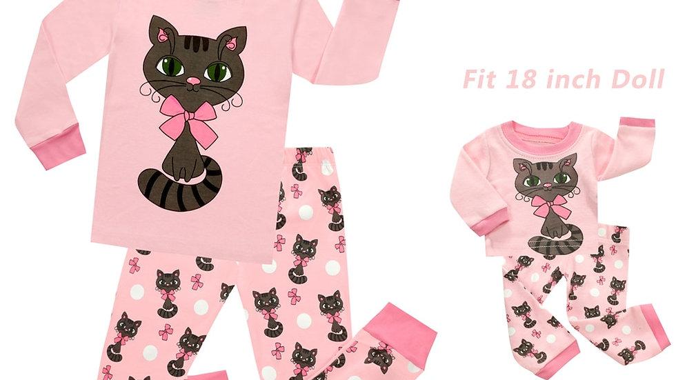 Kids Kitty Pyjamas