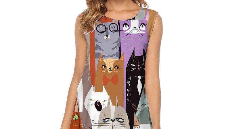 Women's Sleeveless Kitty Dress