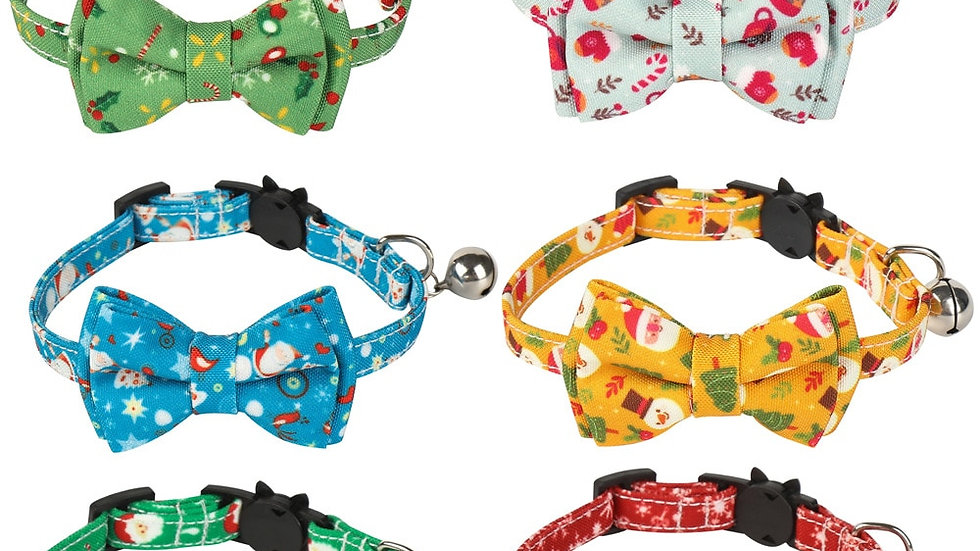 Adjustable Bow-Tie Cat Collars