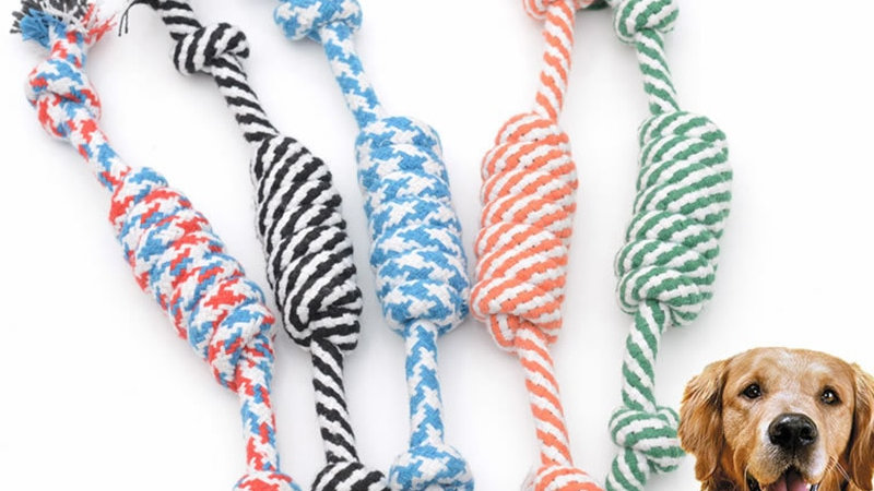 Cotton Rope Knotted Dog Chew Toy