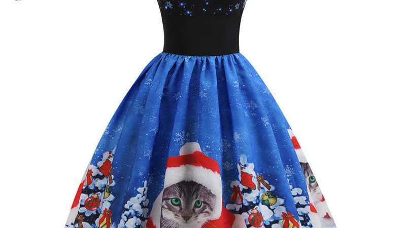 Kitty Christmas Dress