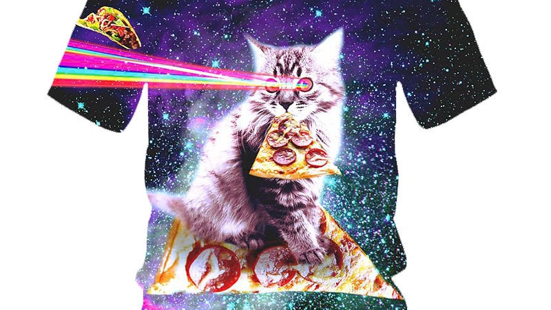 Funny Space Themed Kitty Top
