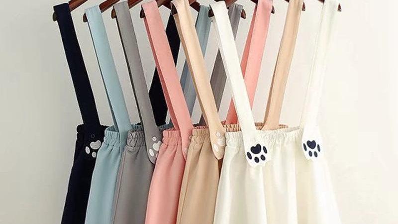Cute Kitty Suspender Skirt