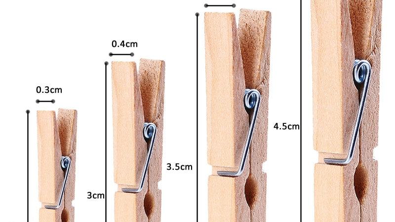 50pcs Mini Wooden Pegs