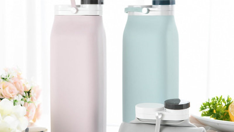 400ml Silicone Collapsible Water Bottle