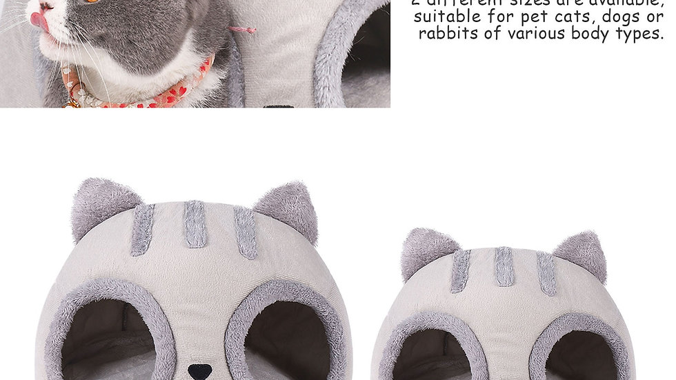 Super Soft Cat Head Shaped Bed