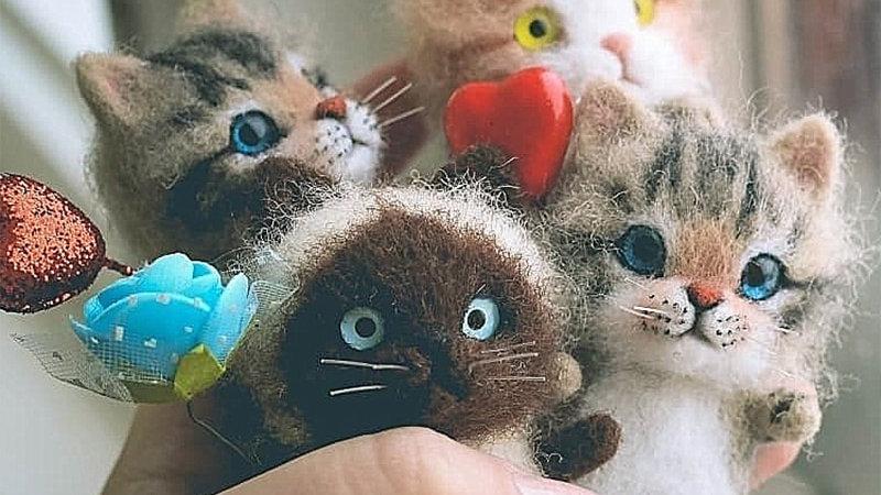 DIY  Felt Cat Kits