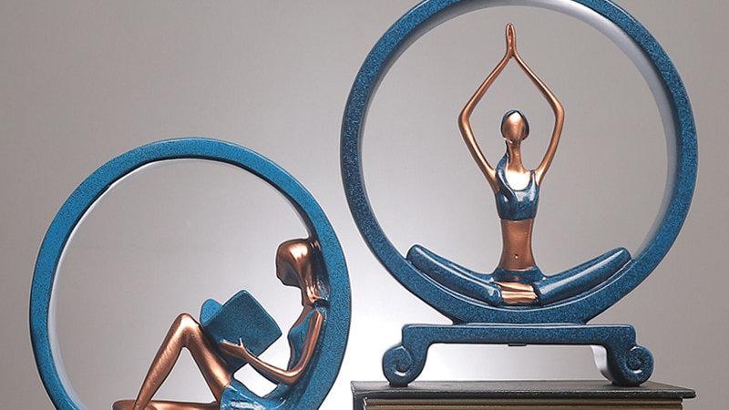 Yoga Girl Statue