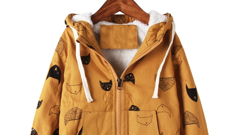 Kids Cat Print Coat