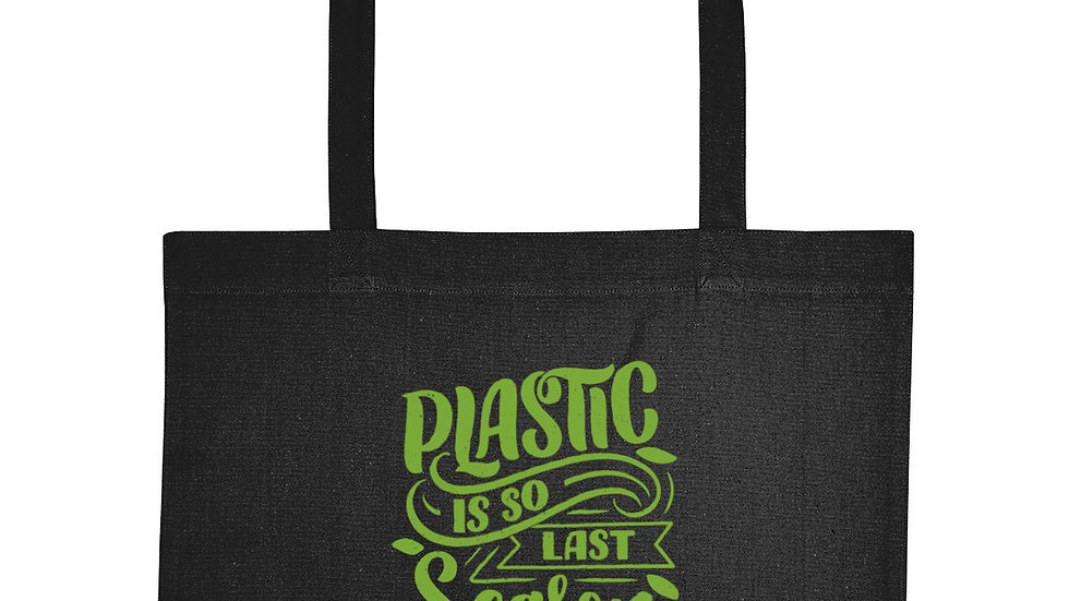 Plastic Is So Last Season Recycled Eco-Friendly Shopping Bag