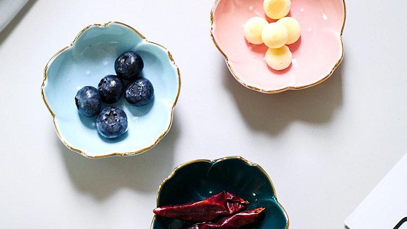 Ceramic Flower Side Plates