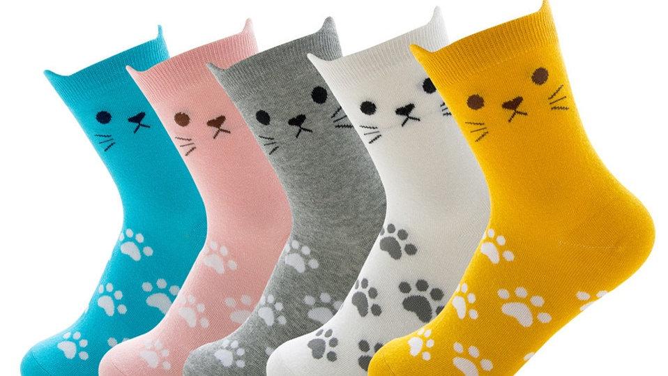Colourful Kitten Socks