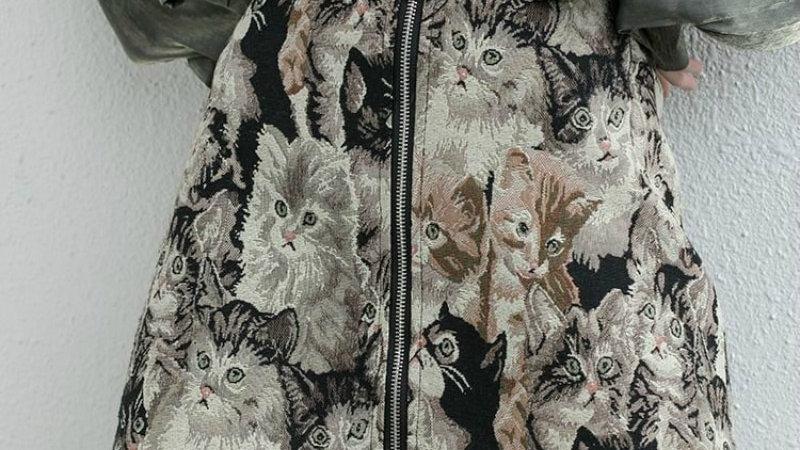 Cat-Printed Skirt