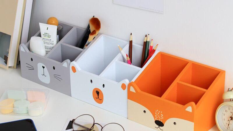 Animal Themed Stationery Storage Box